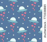 cute cartoon colorful ufo with...   Shutterstock .eps vector #773338885