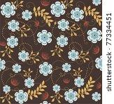 floral seamless pattern   Shutterstock .eps vector #77334451