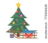 christmas tree with present... | Shutterstock .eps vector #773346628