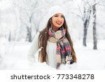 attractive young woman in... | Shutterstock . vector #773348278