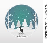 merry christmas and happy new... | Shutterstock .eps vector #773349526