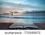 stunning sunrise landsdcape of... | Shutterstock . vector #773350072