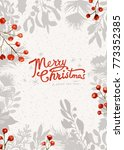 christmas greeting card  | Shutterstock .eps vector #773352385