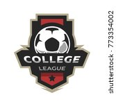 college league  soccer logo. | Shutterstock . vector #773354002