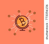 bitcoin cryptocurrency are... | Shutterstock .eps vector #773356156