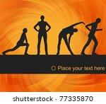 animated women gymnastic... | Shutterstock .eps vector #77335870