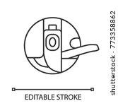 bobbin case linear icon. thin...   Shutterstock .eps vector #773358862
