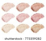 face powder. smears of... | Shutterstock . vector #773359282