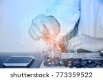 business technology people are... | Shutterstock . vector #773359522