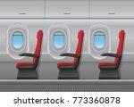 passenger airplane red vector... | Shutterstock .eps vector #773360878