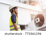 asian engineer and creative of... | Shutterstock . vector #773361196