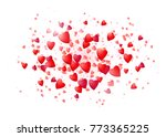 realistic hearts isolated in... | Shutterstock .eps vector #773365225