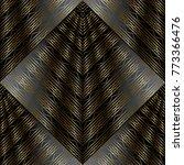 modern striped lattice 3d... | Shutterstock .eps vector #773366476