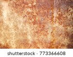 colorful rust stains aged iron    Shutterstock . vector #773366608