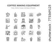 coffee making equipment flat... | Shutterstock .eps vector #773369125