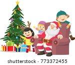 merry christmas. illustration... | Shutterstock . vector #773372455