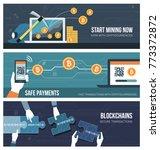 blockchains  money transfer ... | Shutterstock .eps vector #773372872