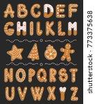 vector cartoon set of alphabet... | Shutterstock .eps vector #773375638