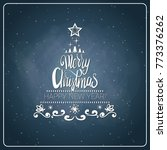 vintage merry christmas and... | Shutterstock .eps vector #773376262