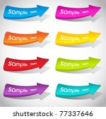 colorful vector sticker arrows... | Shutterstock .eps vector #77337646