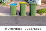 kerbside waste bins ready for... | Shutterstock . vector #773376898