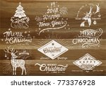 holiday design elements | Shutterstock .eps vector #773376928