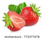 strawberry isolated on white... | Shutterstock . vector #773377678