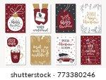 set of creative 8 journaling... | Shutterstock .eps vector #773380246