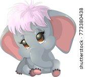 Stock vector beautiful cute elephant 773380438