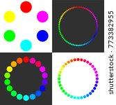 circular spectral palette for 6 ... | Shutterstock .eps vector #773382955