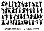 set of oriental dance... | Shutterstock .eps vector #773384995