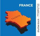 france 3d map | Shutterstock .eps vector #773391712