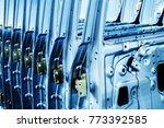 a car factory  neatly arranged... | Shutterstock . vector #773392585