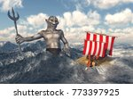 odysseus and poseidon in the... | Shutterstock . vector #773397925