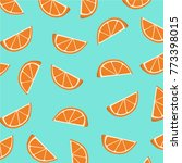 orange slices pattern. vector... | Shutterstock .eps vector #773398015