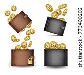 bitcoin wallet set vector.... | Shutterstock .eps vector #773400202