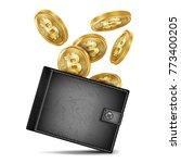 bitcoin wallet vector. black...   Shutterstock .eps vector #773400205