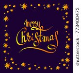 lettering merry christmas with... | Shutterstock .eps vector #773400472