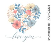 greeting card for valentine day ... | Shutterstock .eps vector #773402335