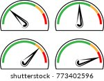 speedometer icon design vector... | Shutterstock .eps vector #773402596
