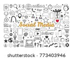 social media icons set. vector... | Shutterstock .eps vector #773403946