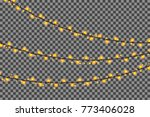 christmas lights isolated... | Shutterstock .eps vector #773406028