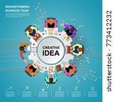 idea concept for business...   Shutterstock .eps vector #773412232