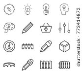 thin line icon set   percent ... | Shutterstock .eps vector #773414872