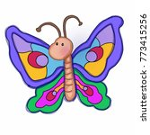 cute butterfly illustration... | Shutterstock . vector #773415256