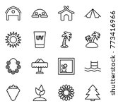 thin line icon set   barn  dome ... | Shutterstock .eps vector #773416966