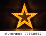 large wooden star with a large... | Shutterstock . vector #773425582