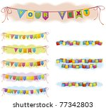 vector festive backdrop for the ... | Shutterstock .eps vector #77342803