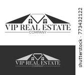 diamond and real estate logo   Shutterstock .eps vector #773432122