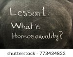 homosexuality concept on the... | Shutterstock . vector #773434822